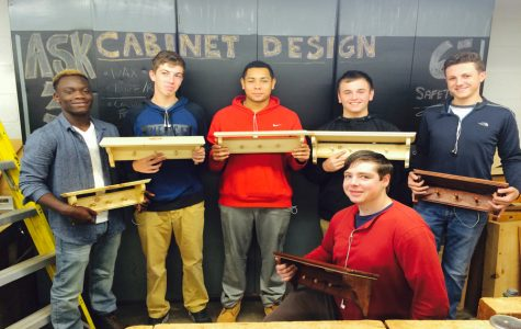 Students practice hands-on skills in cabinet design