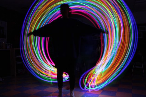Photo students learn to paint with light