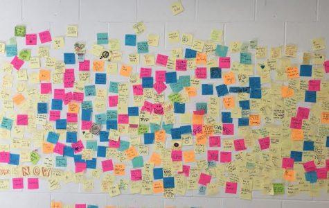 Sticky notes spread positivity