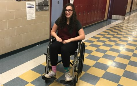 I went around in a wheelchair to test accessibility in GHS