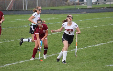 Lily Sanfilippo sends the ball up the field in Wednesday's tournament game against Ipswich
