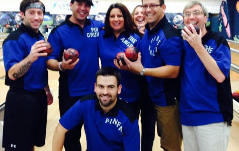 Staff bowling champions  Rory Gentile, John Nicastro, Maria Lysen, Chris Kobs, James Cook and Shaun Goulart