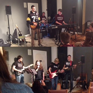 Bands Summit (top) and Rooftop Runaways rocked the house at the Human Rights club concert