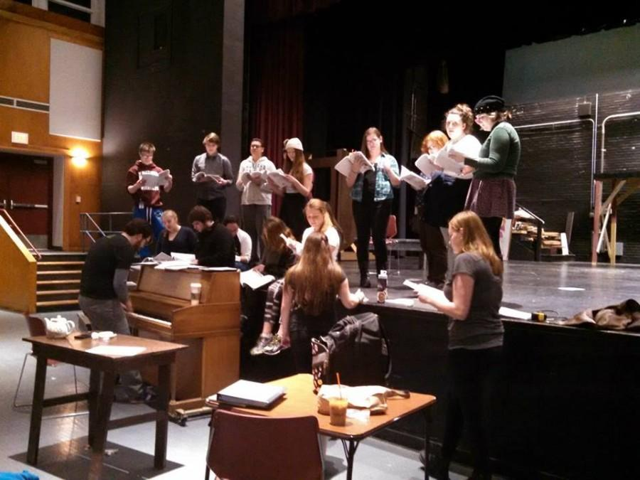 Cast+of+Legally+Blonde+rehearses+for+opening+night.
