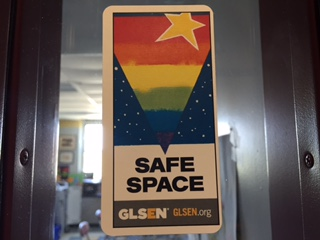 Safe space stickers show support for LGBT students