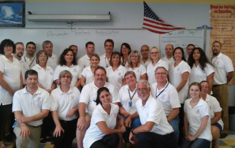 Teachers wear GTA polo shirts to show solidarity