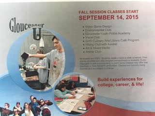 Gloucester U fall session begins