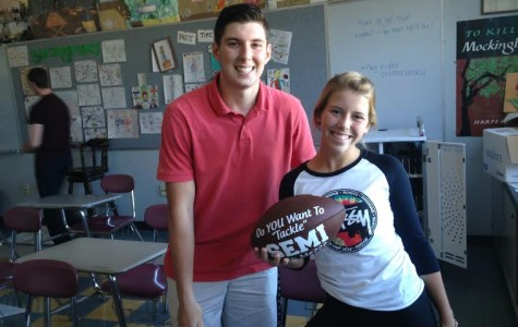 Mike Cody gets creative and asks Rachel Alexander to semi  (she said yes)