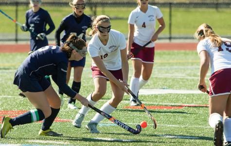 Gloucester's Gabby Machado maneuvers through Peabody defenders during Saturday's game