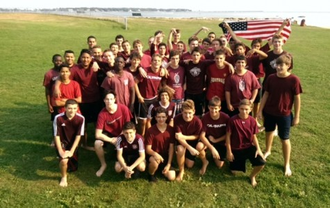 The GHS boys' soccer team poses for a photo during the preseason