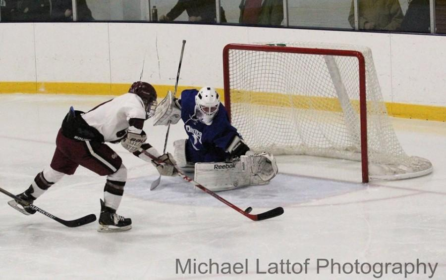 Sal Costanzo scores a goal against Danvers in last Saturday's home opener