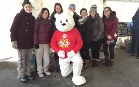 (from left) Maria Kotob, Karissa Murray, Heidi Frank-Otten, Bella Parco, Macaella Oliver, Caitlin Gallo and Katey Latassa pose with the