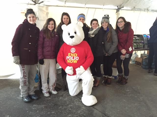 (from left) Maria Kotob, Karissa Murray, Heidi Frank-Otten, Bella Parco, Macaella Oliver, Caitlin Gallo and Katey Latassa pose with the