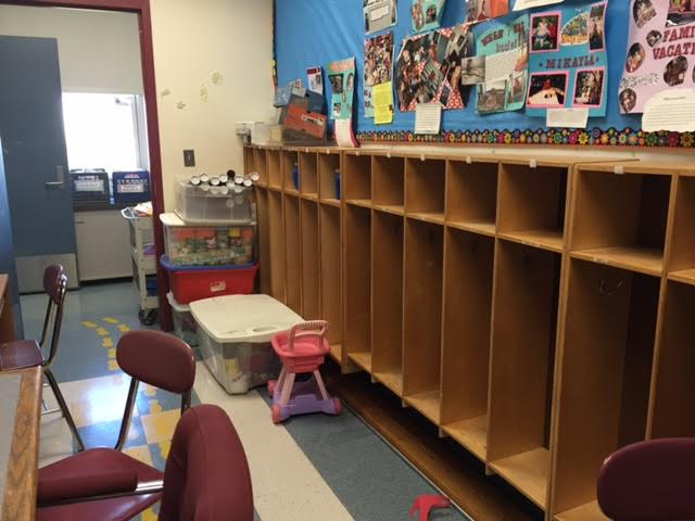 Empty+cubbies+in+the+preschool+room+