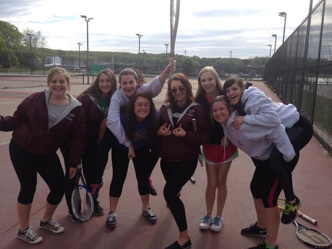 2015 girls' tennis team.