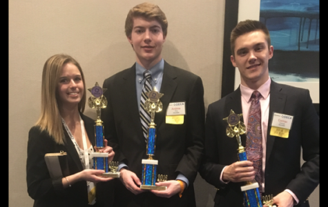 (From left) Hannah Mills, Andrew King, and Cormac Flickenger will move on to nationals