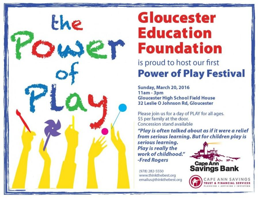 Power of play festival this weekend at GHS