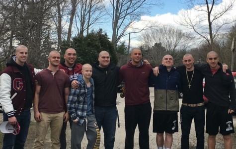 (from left) John Philpott, Jeff St. Peter, Jacob Emerson, Will Eason, Andrew Amaral, Jake Schrock, Thomas Donahue, Alex Militello, Kyle Aquipel