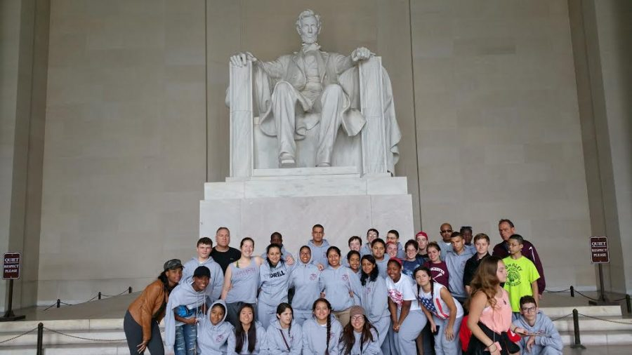 JROTC at the Lincoln Memorial in Washington D.C.