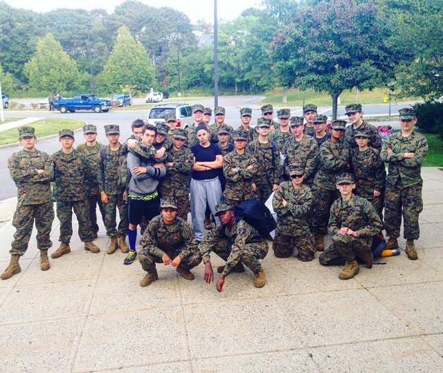 JROTC Cadets camp out at Gordon College over the weekend