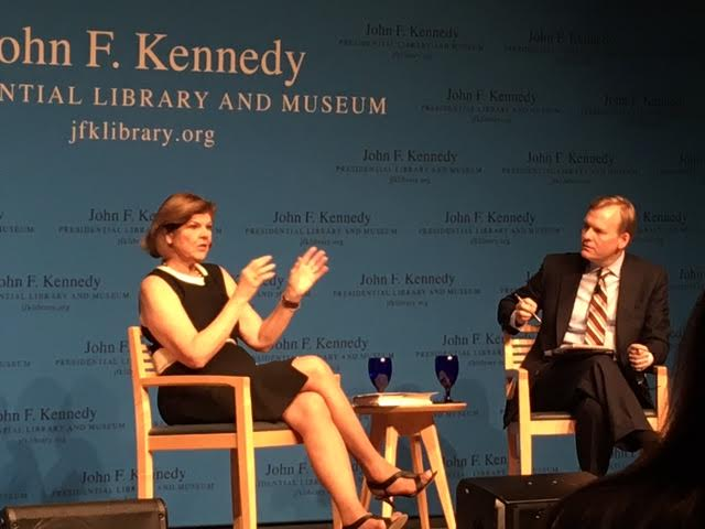 ABC+News+Corespondent+Ann+Compton+and+CBS+Political+Director+John+Dickerson+discuss+the+2016+election+at+the+John+F.+Kennedy+Library+