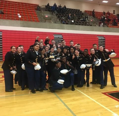JROTC's Drill Team won first overall and qualified for Nationals this weekend in Reading, Pennsylvania.