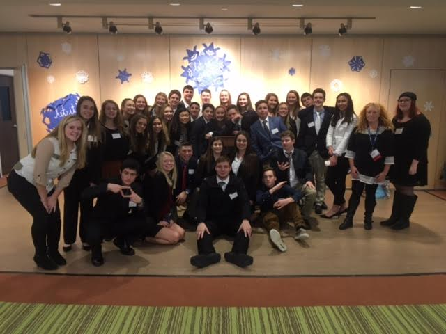 GHS DECA students at district competition