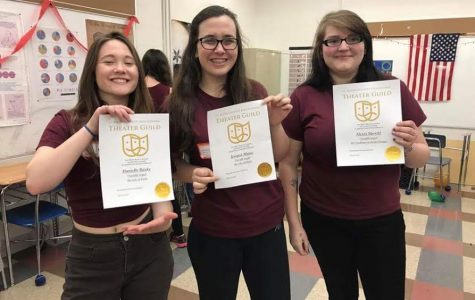 Bauke, Muniz, and Merritt recognized at Drama Festival