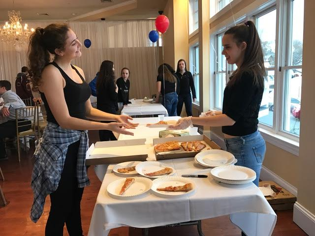 Alexia Marnoto and Sophia Pata at the tenth annual pizza taste off