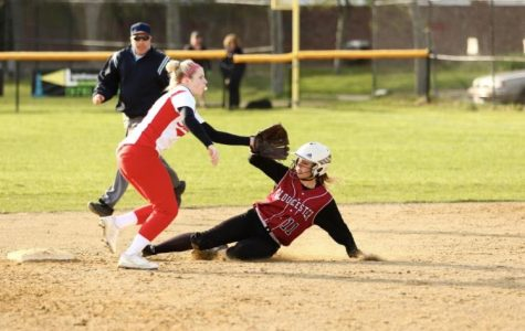 Senior captain Meagan Manning slides safely into second base