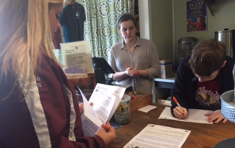 The staff of Willow Rest signed the petition to use reusable materials. Senior Katie Nugent informed the business of the reasons behind the ban.