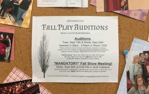 2017 fall play auditions to begin this week