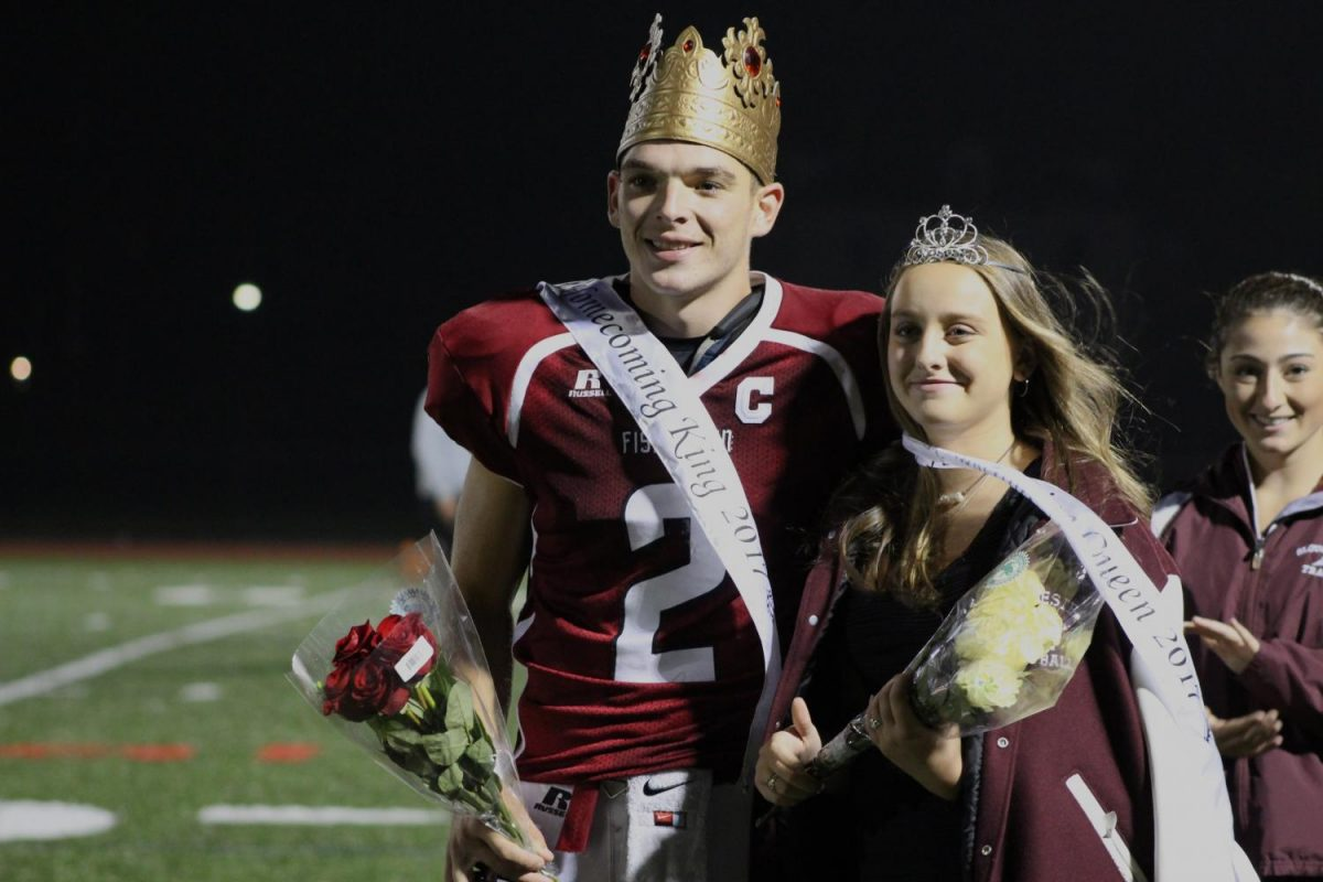 Homecoming King and Captain Oliver Emerson and his longtime girlfriend Homecoming Queen Olivia Fonti