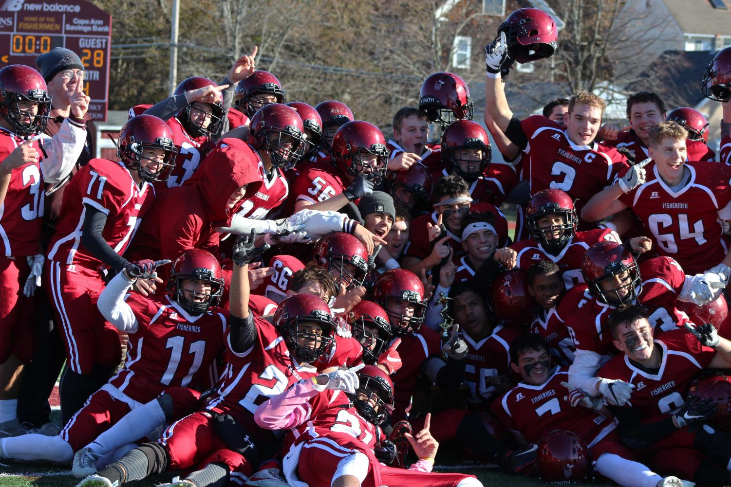The GHS football team won their annual Thanksgiving game against the Danvers Falcons on November 23