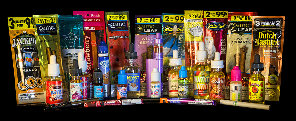 Some of the many products included in Gloucester's flavored tobacco ban