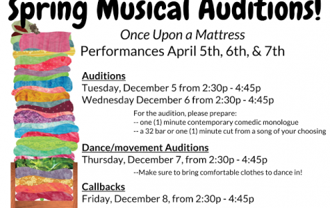 "Don't be shy, audition for ""Once Upon A Mattress"""