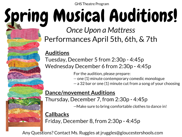 Don't be shy, audition for