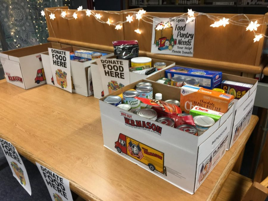 Donation table in the library has room for more