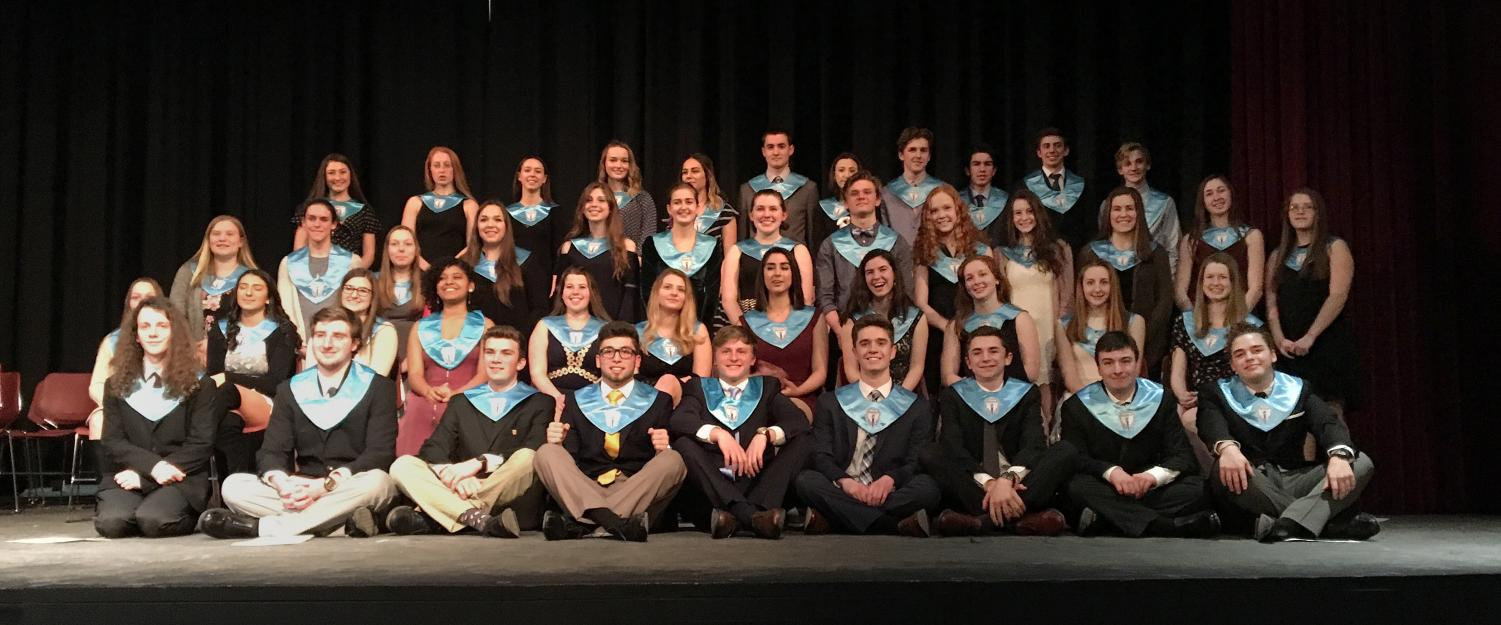 New members of the National Honor Society were inducted on Thursday night