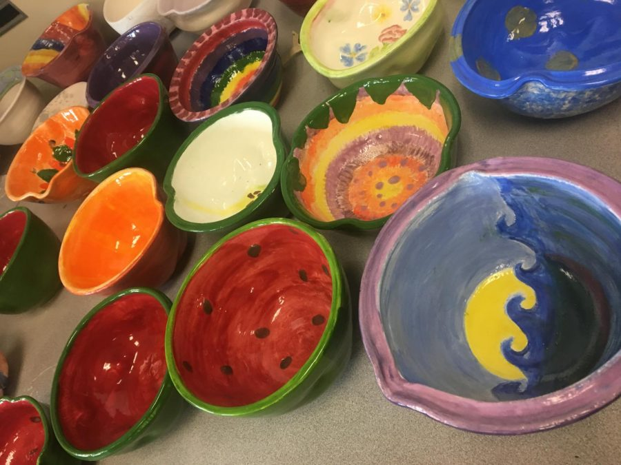 GHS Clayworks students made bowls for Empty Bowl fundraiser
