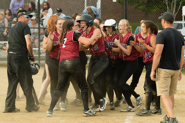GHS+softball+team+celebrates+after+scoring+the+winning+run+in+the+8th+inning