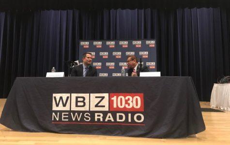 U.S. Representative Seth Moulton (D) and candidate Joseph Schneider (R) met at Endicott college Wednesday night