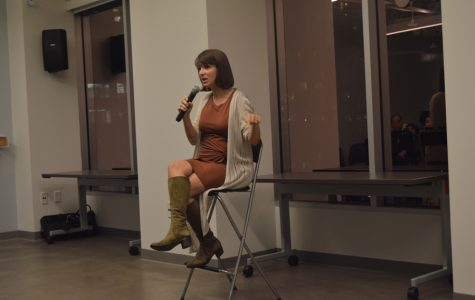 Amanda Curtis talks about conditions in the fashion industry at Glam Slam during Boston Fashion Week