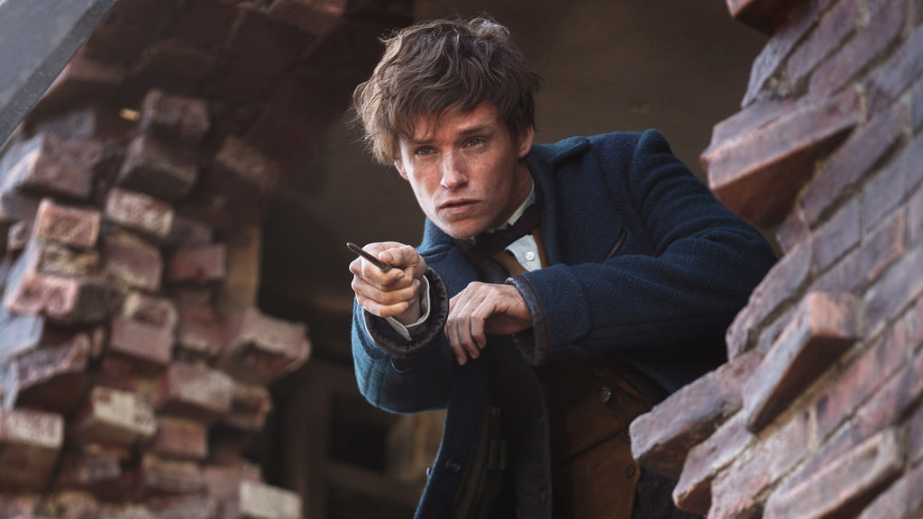 Eddy Redmayne in his starring role of Newt Scamander