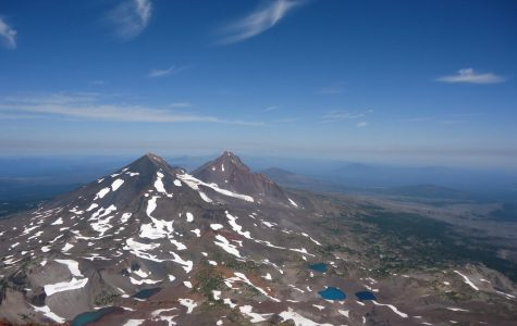 View from the summit of South Sister mountain in Oregon