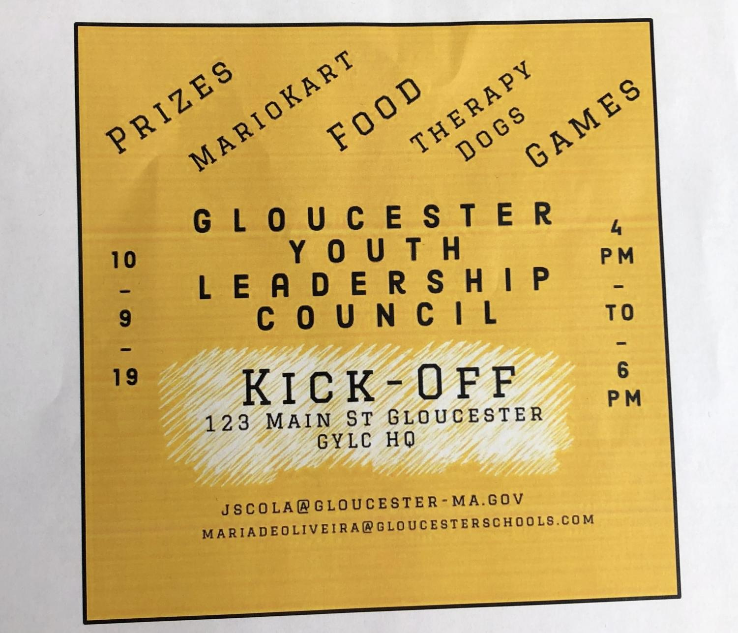 GYLC invites students to their kick-off event this Wednesday night.