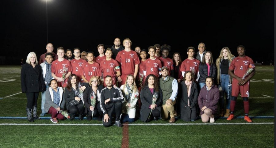 Gloucester+recognizes+their+12+graduating+players+on+senior+night