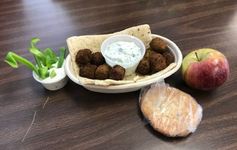 This Falafel boat was Thursday's vegetarian lunch option