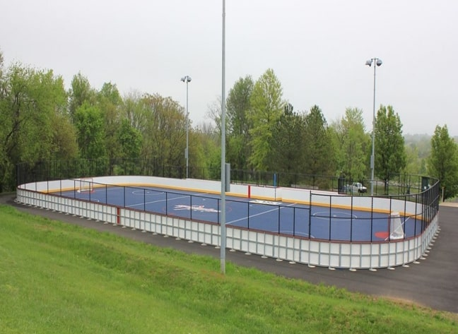 Envisioned street hockey rink at Stage Fort Park.