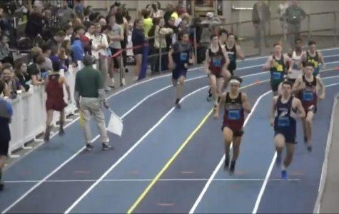 Andrew Coelho, Tommy Elliott, and Max Sperry running 600m dash.